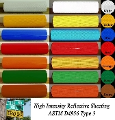 High Intensity Grade Reflective Sheeting - 150' rolls