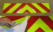 Reflective NFPA Chevron Panel